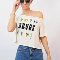 """Drugs"" Crop Top"