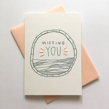 Allie Biddle - Missing You Card