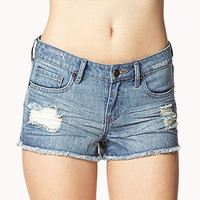 Destroyed Denim Cut-Offs | FOREVER 21 - 2040070439