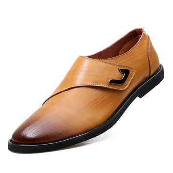 Genuine Cow Leather Dress Flats Loafers