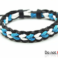 fashion Adjustable leather Cotton Rope Woven Bracelets mens bracelet cool bracelet jewelry bracelet bangle bracelet  cuff bracelet 2209S