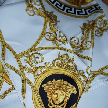 Versace silk scarf 90 x 90cm white new
