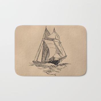 Sailing Bath Mat by Texnotropio