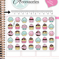 Kawaii Cupcake Stickers Cute Cupcake Stickers Cupcake Stickers Planner Stickers Erin Condren Functional Stickers Decorative Stickers NR659