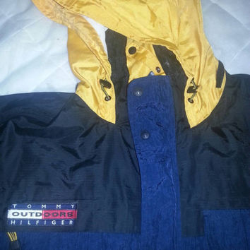 Vintage TOMMY HILFIGER Gear Sailing Hoodie Windbreaker Jacket. Extra Large size (XL)