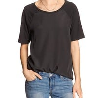 Banana Republic Womens Factory Raglan Tee