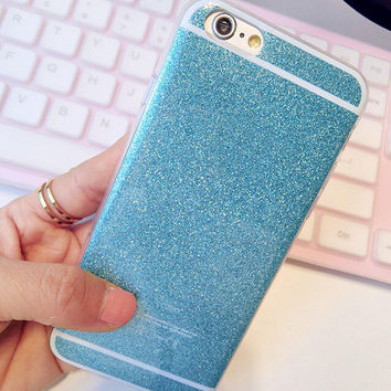 Apple iPhone 6 6s 4.7 inch Cover Bling Shining Glitter Candy Dress Design TPU Gel Phone Case Blue