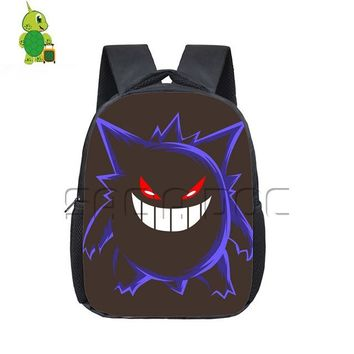 Anime Backpack School kawaii cute Pokemon Backpack Children School Bags Chibi Gengar Printed Kidergarten Backpack Boys Girls Students School Bags Gift Bags AT_60_4