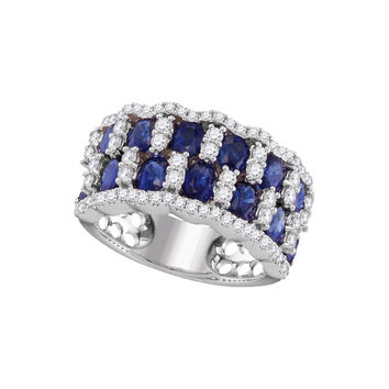 3-4Center Total Weight -Diamond 3  Carat-SAPPHIRE RING