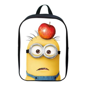 New Style 12 Inch Cool Hero Printing Minions Cartoon Girls Gift Pack Boys Student Bag Children Backpack for Kids School Bags