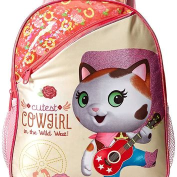 Disney Girls' Sheriff Callie 12 inch Toddler Backpack Pink