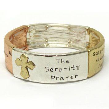 Religious Inspiration Serenity Prayer Stretch Bracelet