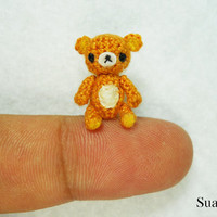 Micro Miniature Rilakkuma Bear - Brown Bear - Made To Order