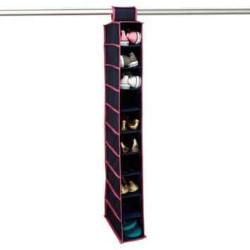 The Macbeth Collection 10-Shelf Hanging Closet Organizer in Navy