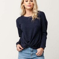 SOCIALITE Knot Front Womens Sweatshirt