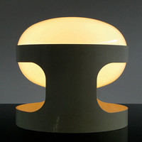 Joe Colombo design,1967 ABS plastic table lamp,KD27 white - Eames Panton Colani Era Mid Century Modern Vintage