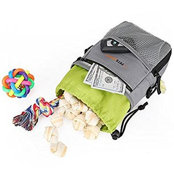 Petshoney Dog Treat Bag: Superior Quality Treat Pouch For Dogs To Carry Easily Dog Training Treats, Toys & Accessories/ Sturdy, Lightweight, Versatile, Worn In 3 Different Ways/Free Poop Bag