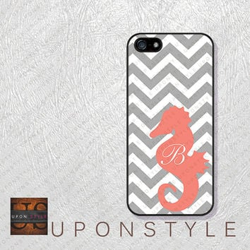 Phone Cases, iPhone 5S Case, iPhone 5 Case, iPhone 5C Case, iPhone 4 case, iPhone 4s case, Chevron Hippocampus, Case for iphone No-5D0026