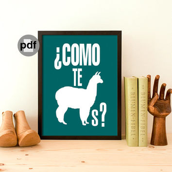 Inspirational Quote Typography Print Wall Art Typographic Print Funny Quote Printable Art Home Decor Inspirational Print Como Te Llamas A3