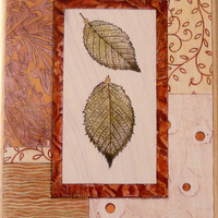 "Blue Beech Leaves 3-5/8"" x 5-1/4"" / Nan Goss Studio / Stamps Happen / Rubber Stamp / 90347"