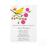 Yellow Songbird Bridal Shower Invitation from Zazzle.com