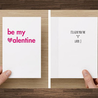 Naughty Funny Valentine Card I'll Give You the V Later Dirty Boyfriend