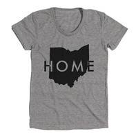 Ohio Home Womens Athletic Grey T Shirt - Graphic Tee - Clothing - Gift