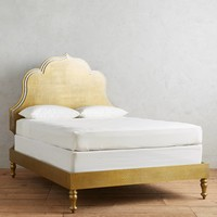 Embossed Brass Crest Bed