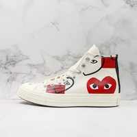 Comme Des Garcons X Converse Chuck Taylor All Star Cdg With Love Print Hi Sneakers - Best Deal Online