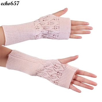Echo657 2016 Hot Sale New Fashion Knitted Fringe Warm Gloves Oct 21