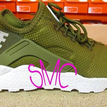 Nike Air Huarache Ultra Custom Sneakers Nike Trainers Originals Women's Shoes Sneakers