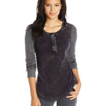 Buffalo David Bitton Women's Henley Laylo Shirt