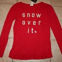 red abercrombie snow over it shirt - Google Search