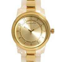 Accessorize Two Tone Link Watch at asos.com