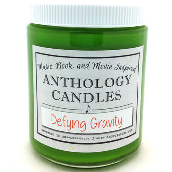 Defying Gravity Candle, Music Candle, Gift for Music Fan, Music Lovers Gift, Broadway Candle, Broadway Gift, Wicked Candle, Musical Gift