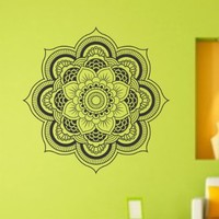 Mandala Menhdi Flower Pattern Version 101 Decal Sticker Wall Decals Stickers Art Graphic