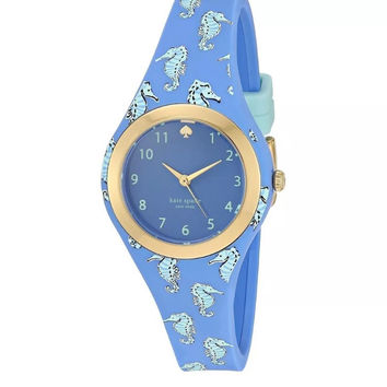 Kate Spade New York 'Rumsey' Seahorse Silicone Watch