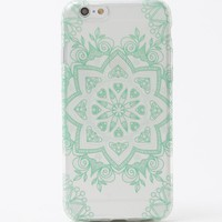 With Love From CA Two-Tone Medallion iPhone 6/6S Case - Womens Scarves - Teal/White - One