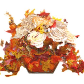 Fall Centerpiece, Fall Bridal Decoration, Fall Silk flowers, Fake flower decor, Fall home decor, Fall holiday decor, Fall floral arrangement