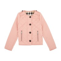 Burberry Nalla Quilted Jacket Light Copper Pink | Harrods