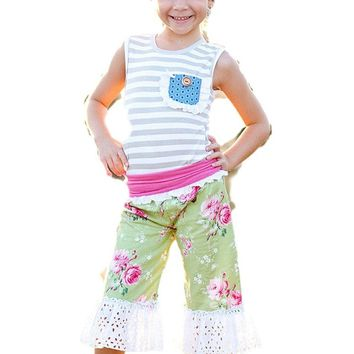 Giggle Moon-Green Pastures-Suzy Pant Set   (size 12 Mth)