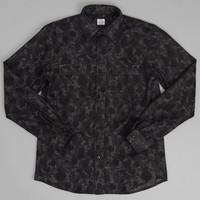 js homestead - the hill side cpo shirt black nordic camouflage