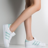 adidas Women's Superstar Sneakers in White Supcol White