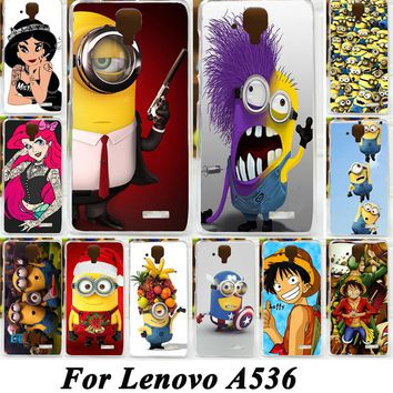 Painted Case For Fundas Lenovo A536 A358t Moblie Phone Case Cool Cartoon Despicable Me Minions Piece Cases Cover Skin Shell Capa