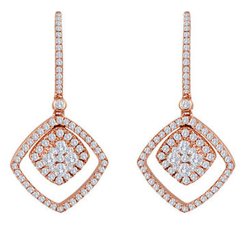 Levian 14 Kt. Strawberry Gold Diamond Drop Earrings