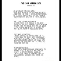 The Four Agreements BW #minimalism by Andrea Anderegg Photography