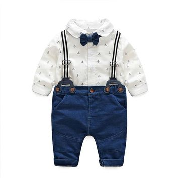 a31683f6d7d62 IYEAL Fashion Wedding Birthday Party Baby Boys Clothes Sets Cott