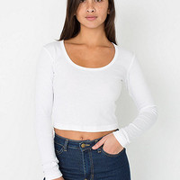 Baby Rib Long Sleeve Crop Top | American Apparel