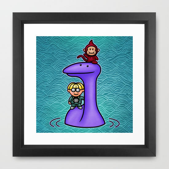 Tessie Framed Art Print By Likelikes From Society6