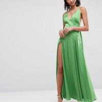 ASOS ULTIMATE Cami Thigh Split Maxi Dress at asos.com